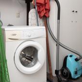 wasmachine is aanwezig