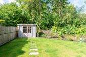 The large garden invites you to enjoy