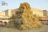 Sand sculpture Alice in Wonderland